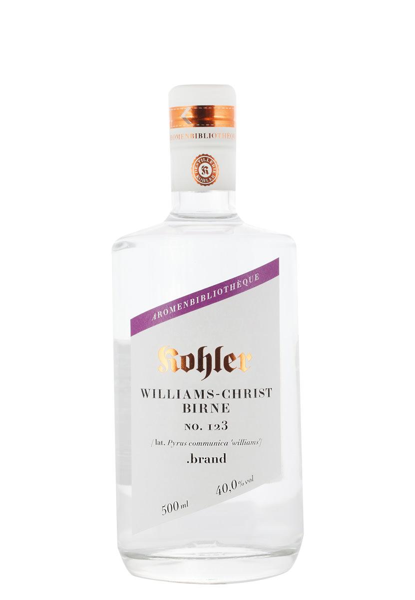 williams christ birne brand 40 destillerie kohler. Black Bedroom Furniture Sets. Home Design Ideas